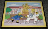 2007 The Simpsons Homer as Forest Gump Framed 10x13 Poster Photo
