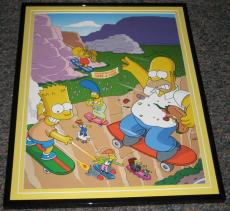 2007 The Simpsons Homer & Bart Springfield Gorge Framed 10x13 Poster Photo