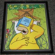 2007 The Simpsons Homer Simpson Famous Hammocks Framed 10x13 Poster Photo