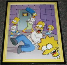2007 The Simpsons in Padded Room Framed 10x13 Poster Photo