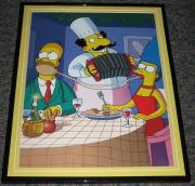 2007 The Simpsons Lady & The Tramp Homer & Marge Framed 10x13 Poster Photo