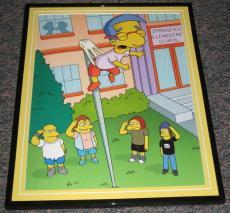 2007 The Simpsons Milhouse Nelson Jimbo Bullies Framed 10x13 Poster Photo