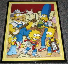 2007 The Simpsons Singalong Framed 10x13 Poster Photo