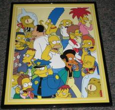 2007 The Simpsons Town on the Phone Framed 10x13 Poster Photo