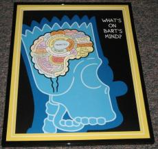 2007 The Simpsons What's on Bart Simpson 's Mind Framed 10x13 Poster Photo