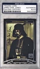 2007 Topps Star Wars James Earl Jones Darth Vader #8 Signed Auto Card PSA/DNA