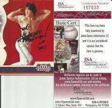 2008 Donruss Americana Jackie Chan Signed Auto Card JSA COA #2