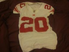 2008 NFL Football New York Giants Game Used Jersey #20 MIchael Jackson