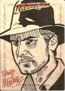 2008 Topps Indiana Jones Harrison Ford Randy Martinez Sketch Card #'d 1/1 (B)