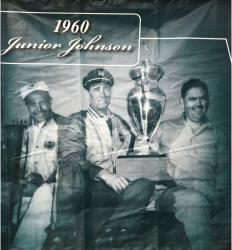 2009 Daytona 500 Memorable Moments 77'' x 83'' 1960 Junior Johnson Backstretch Banner Panel  - Mounted Memories