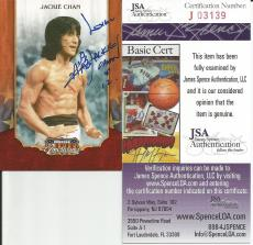 2009 Donruss Americana Jackie Chan Signed Auto Card JSA COA #1