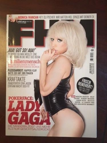 "2009, LADY GAGA, ""FHM"" Magazine (No Label) (Super Early Cover)"