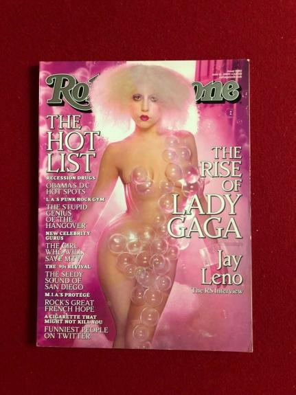 """2009, Lady GAGA, """"Rolling Stone"""" Magazine (No Label) Scarce (Early Cover)"""