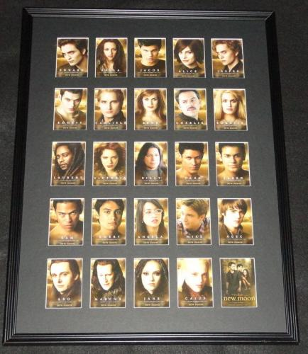 2009 Twilight New Moon Framed 18x24 Card Set Display