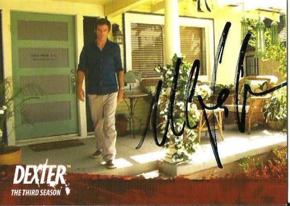 2010 Dexter 3rd Third Season Michel C Hall Signed Card JSA DNA COA