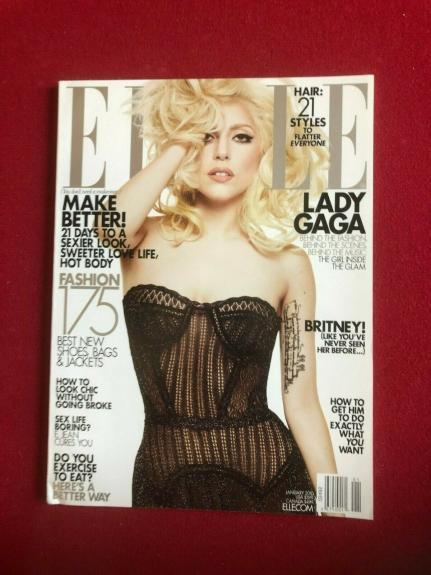 "2010, LADY GAGA, ""ELLE"" Magazine (No Label) Vintage"
