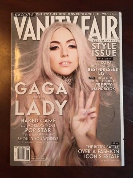 "2010, LADY GAGA, ""Vanity Fair"" Magazine (No Label) (Early Cover)"