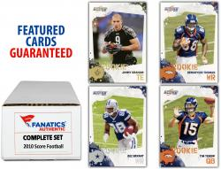 2010 Score Football Complete Set of 400 Cards with 2 Game-Used Jersey Cards - Mounted Memories