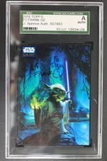 2010 Topps #p2 Star Wars Galaxy Frank Oz Yoda Signed Jsa Autograph