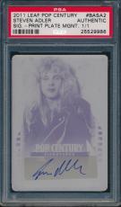 2011 Leaf Pop Century Steven Adler Gnr Signatures Print Plate Magenta Basa2 Psa