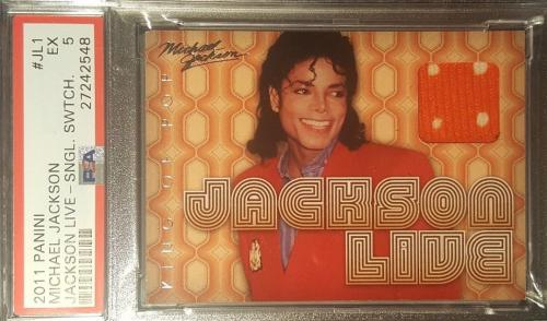 2011 Michael Jackson LIVE Panini King of Pop Used Material Swatch PSA EX 5