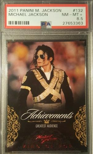2011 Michael Jackson Panini Achievements Red Foil PSA Graded PSA NM-MT 8.5
