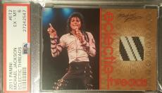 2011 Michael Jackson Panini Eclectic Threads Used Material Swatch PSA EX-MT 6