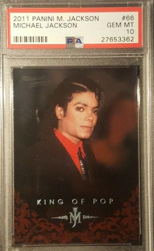 2011 Michael Jackson Panini King of Pop Silver Foil Graded PSA GEM MINT 10