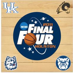 2011 NCAA Final Four Game Used Floor 12 x 12 with Logos