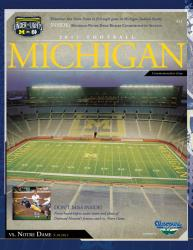 2011 Notre Dame Fighting Irish vs. Michigan Wolverines 1st Night Game 22x30 Canvas Historic Football Poster