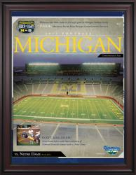 2011 Notre Dame Fighting Irish vs. Michigan Wolverines 1st Night Game 36x48 Framed Canvas Historic Football Poster