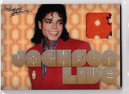2011 Panini Michael Jackson Electric Threads Worn Used 1971 Boyd Clapton Sp Jl1