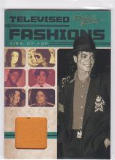 2011 Panini Michael Jackson Televised Fashions Worn American Band 1972 Shirt Tv3