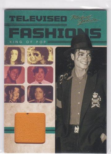 2011 Panini Michael Jackson Televised Fashions Worn American Band 1972 Shirt Tv3