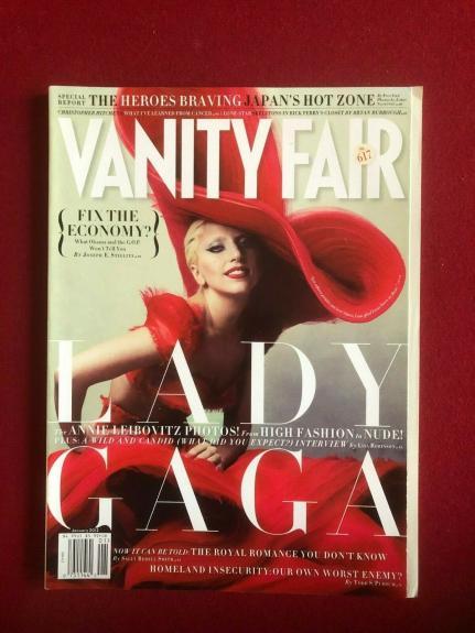 "2012, LADY GAGA, ""VANITY FAIR"" Magazine (No Label) Vintage"