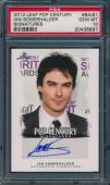 2012 Leaf Pop Century Ian Somerhalder Signature Auto Card Psa 10 Gem Mint #bais1