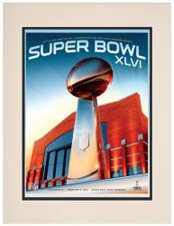 "Super Bowl XLVI 10.5"" x 14"" Matted Program Print - Mounted Memories"
