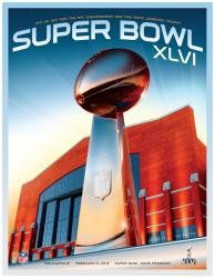 "Super Bowl XLVI 22"" x 30"" Canvas Program Print"