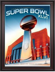 "Super Bowl XLVI 36"" x 48"" Framed Program Print"