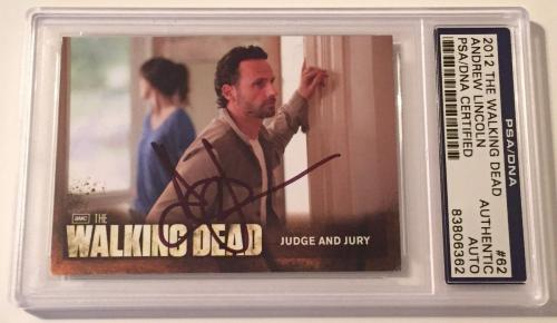 2012 The Walking Dead Andrew Lincoln Rick Signed Auto Card PSA/DNA Slabbed #62