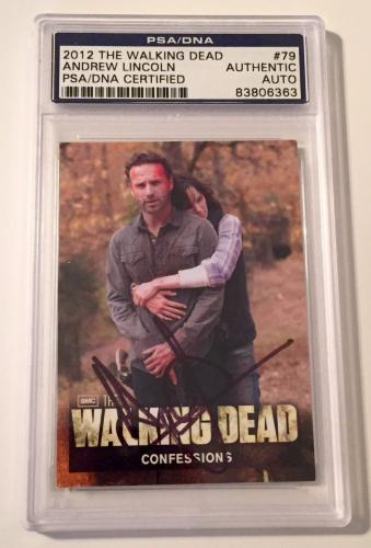 2012 The Walking Dead Andrew Lincoln Rick Signed Auto Card PSA/DNA Slabbed #79