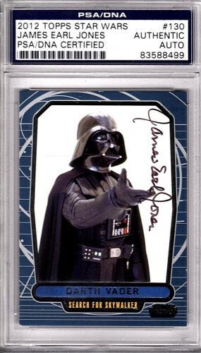 2012 Topps JAMES EARL JONES Signed STAR WARS Darth Vader Card Beckett BAS SLAB