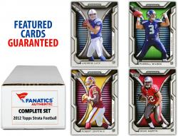2012 Topps Strata Football Complete Set of 150 Cards