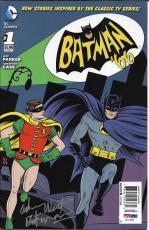 2013 Adam West SIgned 1966 Original Batman '66 Comic Book #1 PSA/DNA COA
