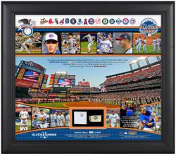 """2013 All-Star Game American League Framed 15"""" x 17"""" Collage with Piece of All-Star Game-Used Base & Ball"""