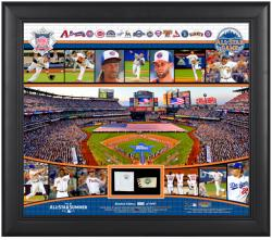 """2013 All-Star Game National League Framed 15"""" x 17"""" Collage with Piece of All-Star Game-Used Base & Ball"""