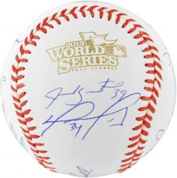 Boston Red Sox 2013 World Series Champions Team Autographed World Series Baseball with 20 Signatures
