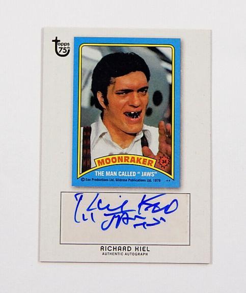 2013 Topps 75th Anniversary Autographs Richard Kiel Moonraker Jaws