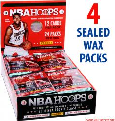 2014-15 Hoops Basketball Factory Sealed 4 Pack Lot