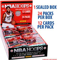 2014-15 Hoops Basketball Factory Sealed 24 Pack Box